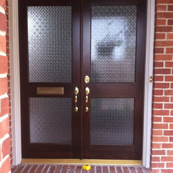 2013 - replaced old glass with new, patterned glass