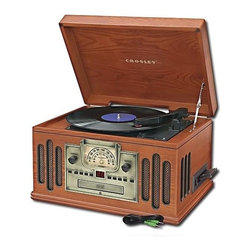 Crosley Radio - 3-Speed Turntable with AM/FM Radio - Belt driven turntable mechanism