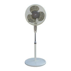 16-inch Oscillating Misting Fan - Don't let sizzling weather cramp your style. This outdoor misting fan connects to an ordinary garden hose or faucet to delight your crowd with a cooling breeze and ultra-fine spray. Better throw some more burgers on the barbecue because this party may never end!