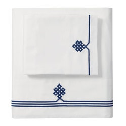Navy Gobi Embroidered Sheet Set