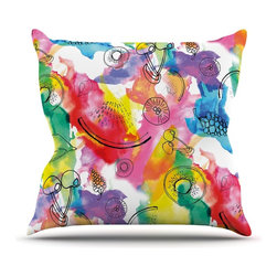 "Kess InHouse - Danii Pollehn ""Fruits"" Rainbow Throw Pillow (16"" x 16"") - Rest among the art you love. Transform your hang out room into a hip gallery, that's also comfortable. With this pillow you can create an environment that reflects your unique style. It's amazing what a throw pillow can do to complete a room. (Kess InHouse is not responsible for pillow fighting that may occur as the result of creative stimulation)."