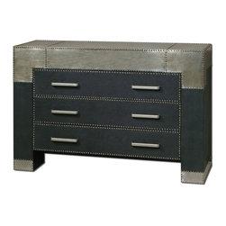 Uttermost - Uttermost 24290 Razi Metal 3 Drawer Dresser - Uttermost 24290 Razi Metal 3 Drawer Dresser