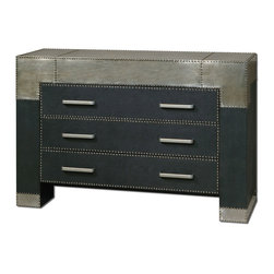 Uttermost - Uttermost 24290 Razi Metal 3 Drawer Dresser - Uttermost 24290 Razi Metal 3 Drawer Dresser
