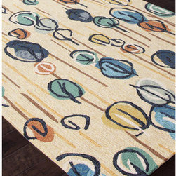 """Jaipur Rugs - Colours I-O White Abstract Rug - Features: -Technique: Hooked / Looped cut.-Material: Polypropylene.-Origin: China.-Indoor and outdoor style.-Durable.-Easy care.-Luxurious and unique.-Polyester is dirt and stain resistant and will look great for a long time just by vacuuming regularly.-Dries fast so deep steam/rug cleaning works great to release dirt from fiber.-If spills occur blot immediately.-Use rug/carpet cleaners that are safe on synthetic fibers.-Use professional cleaning agents only.-Vacuum use an attachment arm or suction only to remove dirt particles.-Construction: Handmade.-Collection: Colours I-O.-Distressed: No.-Collection: Colours.-Construction: Hand Hooked.-Technique: Indoor & Outdoor.-Primary Pattern: Abstract.-Primary Color: Antique White.-Border Material: Polypropylene.-Border Color: Antique White.-Type of Backing: Latex backing.-Material: Polypropylene.-Fringe: No.-Reversible: No.-Rug Pad Needed: No.-Water Repellent: No.-Mildew Resistant: No.-Stain Resistant: No.-Fade Resistant: No.-Eco-Friendly: No.-Outdoor Use: Yes.-Product Care: (1) Polyester is dirt and stain resistant and will look great for a long time just by vacuuming regularly, (2) Dries fast so deep steam/rug cleaning works great to release dirt from fiber, (3) If spills occur blot immediately, (4) Use rug/carpet cleaners that are safe on synthetic fibers, (5) Use professional cleaning agents only, (6) To vacuum use an attachment arm or suction only to remove dirt particles.Specifications: -CRI certified: No.-Goodweave certified: No.Dimensions: -Pile height: 0.25"""".-Pile Height: .25"""".-Overall Product Weight (Rug Size: 2' x 3'): 2.4 lbs.-Overall Product Weight (Rug Size: 3'6"""" x 5'6""""): 7.7 lbs.-Overall Product Weight (Rug Size: 5' x 7'6""""): 15 lbs.-Overall Product Weight (Rug Size: 7'6"""" x 9'6""""): 28.5 lbs.-Overall Product Weight (Rug Size: Runner 2'6"""" x 8'): 8 lbs.Warranty: -Product Warranty: 60 Days."""