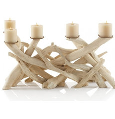 tropical candles and candle holders by VivaTerra