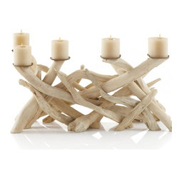 Driftwood Candelabra - This amazing candelabra is made of driftwood. It would be quite a statement piece on any table or fireplace.