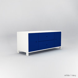 ducduc parker credenza - Drawer fronts available in oak, walnut, chalkboard, or colors.