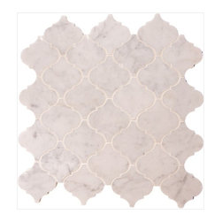 "Daltile - Baroque Carrara Polished Mosaic Tile - Carrara Marble Mosaic 2""x2"" tiles are mounted on 12x12"" sturdy mesh tile sheet with white grout with 28 stones on each sheet. Quantity includes one 12x12"" tile. Shipping is per order."