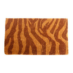 """CocoMatsNMore - CocoMatsNMore Zebra Design Coco Doormats - 18"""" X 30"""" - Eco-friendly Coco Mat are hand-woven and  made from 100% natural coir . These coco doormats are designed to last for a long time and are easy to maintain and clean by either shaking or hosing it down. Designed with fade-resistant dyes they are durable enough to withstand the harshness of weather and look good througout the year. Furthermore, they keep your house clean by doing a fabulous job of trapping the dirt, mud and debris right at the doorstep."""