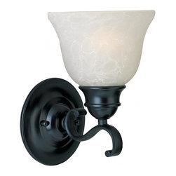 Joshua Marshal - One Light Black Ice Glass Wall Light - One Light Black Ice Glass Wall Light