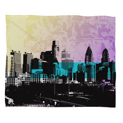 DENY Designs - Amy Smith Philadelphia Fleece Throw Blanket - This DENY fleece throw blanket may be the softest blanket ever! And we're not being overly dramatic here. In addition to being incredibly snuggly with it's plush fleece material, it's maching washable with no image fading. Plus, it comes in three different sizes: 80x60 (big enough for two), 60x50 (the fan favorite) and the 40x30. With all of these great features, we've found the perfect fleece blanket and an original gift! Full color front with white back. Custom printed in the USA for every order.