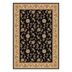 "Dynamic Rugs - Dynamic Rugs Legacy 58017-90 (Black) 5'3"" x 7'7"" Rug - Legacy is yet another superb collection with magnificent styling and priced to fit any budget. Legacy is densely Woven on wilton loom with high quality heat-set polypropylene that is anti-static with highest color fastness."