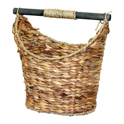 Quickway Imports - Rustic Toilet Paper Holder - Magazine Basket - Measures approximately: 14.5W x 13.7/8H x 10D Inch.