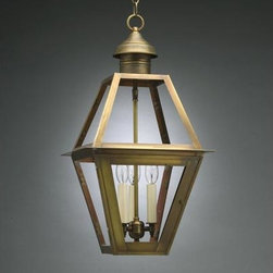 Northeast Lantern - Boston Antique Brass Three-Light Outdoor Pendant with Clear Glass - -Clear Glass  -Northeast Lantern offers a distinctive collection of early American and Colonial reproduction lighting that is hand crafted in New Hampshire for a lifetime of beauty.  -The fixtures are made of solid brass and copper. They  are cut fitted soldered finished and wired by hand in New Hampshire.    -Canopy Dimensions: 5 Diam. Northeast Lantern - 1012-AB-LT3-CLR
