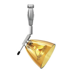 LBL Lighting - Mini-Dome I Swivel I Amber 50W Monorail 1 Light Track Head - LBL Lighting's Monorail is a versatile state-of-the-art track lighting system featuring hand bendable track in a variety of finishes to compliment any dcor.