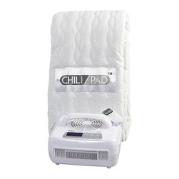 "Chili Technology - Twin (38""x75"") ChiliPad Cooling & Warming Mattress Pad, Twin (38""x75"") - The ChiliPad uses a unique water circulation system to warm or cool your mattress efficiently. In fact, ChiliPad control units use only 80W of energy on average. Compare that to the far higher cost of running the air conditioner or raising the thermostat overnight, and savings are considerable--especially with today's escalating energy costs, when every extra degree on the thermostat can add 4-8% to your monthly bill. Climate-control your bed instead of your room, and save."