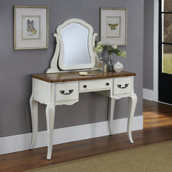 None - The French Countryside Vanity and Mirror - Home Styles French Countryside Collection boasts posh charm. From the proud French leg design to the unique one of a kind rubbed finish,the Home Styles French Countryside Collection is a flawless balance of warmth and elegance.