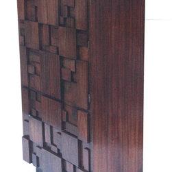 Mid Century Modern Cubist Lane  Armoire - www.shopcuratedgoods.com