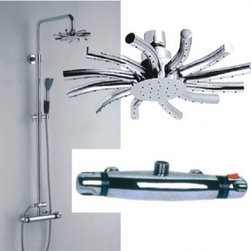JollyHome - JollyHome High Quality Thermostatic Shower Faucets - Complete parts and all install fittings are included.Water pressure tested for industry standard.Easy to keep clean and maintain.Ceramic valve core