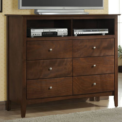 Coaster - Tamara Media Chest / Tv Dresser - The Tamara collection is crafted with solid wood and veneers, dove tail construction, metal runner. Walnut finish.