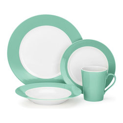 16-Pc. Porcelain Dining Set - Complete with enough dinnerware to accommodate you and three friends, whip up your favorite meal to enjoy on this 16-piece porcelain dining set. Microwave and dishwasher safe, the set's glazed porcelain makes it extremely durable for everyday use.