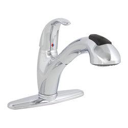 Premier Faucet - Premier Sanibel Single Handle Pull Out Spray Kitchen Faucet in Chrome - Premier Sanibel Single Handle Pull Out Spray Kitchen Faucet in Chrome