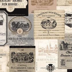 Wine Label in Beige - KK26753 - Book Name:Kitchen Elements
