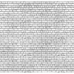 Walls Republic - Washed Brick Mural Wallpaper M8967 - Washed Brick is a white faux brick wallpaper mural with a highly realistic look. It is perfect for creating a rustic raw look in your living room or bedroom. Due to this item being a custom order, it takes longer to ship than our regular products.