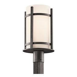 Kichler - Kichler 49123AVI Single Light Outdoor Post Light from the Camden Collection - Kichler 49123 Camden Outdoor Post Lantern