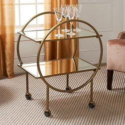 Colin Cowie Bar Cart on Wheels - How fun is this bar cart designed by uber event planner Colin Cowie? It's at Home Shopping Network, a best-kept secret for great home design accents and furnishings.