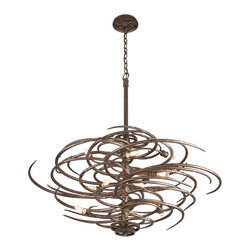 Chandelier Fixtures as Art - Inspired by the steampunk revolution... rebar and gears are remade into this amazing artistic light!