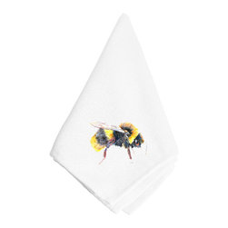 Caroline's Treasures - Bee Napkin 8850NAP - Bee Napkin 8850NAP Dinner Napkin - 100% polyester - wash, dry and lay flat.  No ironing needed.  20 inch by 20 inch