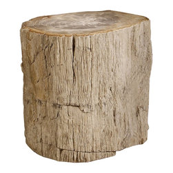 Bernhardt Interiors - Bernhardt Interiors Petrified Wood Side Table 319-712 - Bernhardt Interiors Petrified Wood Side Table 319-712.