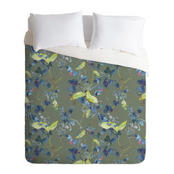 DENY Designs - Rachelle Roberts Dandelion Floral Duvet Cover - Turn your basic, boring down comforter into the super stylish focal point of your bedroom. Our Luxe Duvet is made from a heavy-weight luxurious woven polyester with a 50% cotton/50% polyester cream bottom. It also includes a hidden zipper with interior corner ties to secure your comforter. it's comfy, fade-resistant, and custom printed for each and every customer.