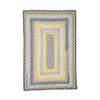 Homespice Decor - Homespice Decor Sunflowers Braided Rug Multicolor - 401311 - Shop for Rugs and Runners from Hayneedle.com! The Homespice Decor Sunflowers Braided Rug is warm and inviting and it captures the image of bright yellow flowers splashed across a blue sky. Brilliant and beautiful you'll feel like you're on a picnic in your own home. These 100% cotton flat braided rugs lend color warmth and a cozy feel to any home. Made in India.Sizes offered in this rug:Following are all sizes for this rug. Please note that some may be currently unavailable due to inventory. Also please note that rug sizes may vary by up to 4 inches in dimensions listed.Dimensions:2 x 3 ft.2.3 x 4 ft.3 x 5 ft.4 x 6 ft.5 x 8 ft.6 x 9 ft.2.6. x 6 ft. Rectangle Runner2.6 x 9 ft. Rectangle Runner3 ft. Square6 ft. Square2 x 3 ft. Oval2.3 x 4 ft. Oval3 x 5 ft. Oval4 x 6 ft. Oval5 x 8 ft. Oval6 x 9 ft. Oval8 x 10 ft. Oval2.6. x 6 ft. Oval Runner2.6 x 9 ft. Oval Runner3 ft. Round6 ft. Round7.6 ft. RoundAbout Homespice Decor RugsProducing quality homemade products since 1998 Homespice Decor has become an industry leader in braided rugs (outdoor indoor wool and cotton) and has expanded its line to include penny rugs rag rugs and its newest - Supernova rugs - which feature a swirling star braid design. Formerly known as J Quilts Company Homespice Decor shifted its focus from quilts to rugs pouring itself into the intricate details of braided rug craftsmanship. Homespice Decor is committed to providing affordable braided rugs of the highest quality in an abundance of sizes and styles.