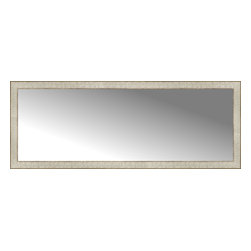 """Posters 2 Prints, LLC - 58"""" x 22"""" Libretto Antique Silver Custom Framed Mirror - 58"""" x 22"""" Custom Framed Mirror made by Posters 2 Prints. Standard glass with unrivaled selection of crafted mirror frames.  Protected with category II safety backing to keep glass fragments together should the mirror be accidentally broken.  Safe arrival guaranteed.  Made in the United States of America"""