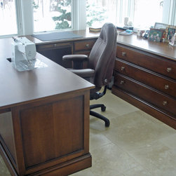 Sewing table / home office desk - Designed for use as a quilting workstation and desk, with ample work and storage space.