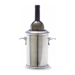 """Match - Match Wine Cooler - This pewter wine cooler makes any bottle of wine look gorgeous. Measures 9.9""""h."""