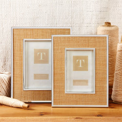 Stainless Steel Frame with Woven Inlay -
