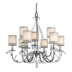 Kichler - Kichler Jardine 2 Tier Chandelier in Chrome - Shown in picture: Kichler Chandelier 9Lt in Chrome