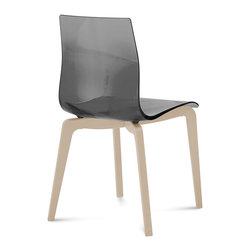 DomItalia Furniture - Gel-L Smoke Grey Chair (Set of 2) - Great for any dining room, this DomitaliaGel-L Smoke Grey Chair (Set of 2) is designed and made in Italy. Its sleek shape keeps everyone comfortable while staying stylish!
