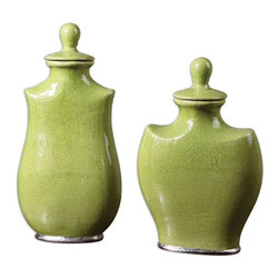 Uttermost - Uttermost Irwyn Containers Set of 2 - 19805 - Uttermost's accessories combine premium quality materials with unique high-style design.