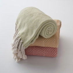 Brahms Mount Cotton Herringbone Throw - These are a long-time favorite of mine. You've got to feel these to really experience the softness. They're a must-have for cuddling in any season.
