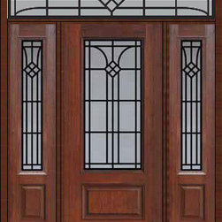 "Prehung Sidelights-Transom Door 80 Fiberglass Cantania 3/4 Lite - SKU#    MCR082WCA_DF34CAG1-2RCAGBrand    GlassCraftDoor Type    ExteriorManufacturer Collection    3/4 Lite Entry DoorsDoor Model    CantaniaDoor Material    FiberglassWoodgrain    Veneer    Price    4385Door Size Options    32"" + 2( 14"")[5'-0""]  $036"" + 2( 14"")[5'-4""]  $036"" + 2( 12"")[5'-0""]  $0Core Type    Door Style    Door Lite Style    3/4 LiteDoor Panel Style    1 PanelHome Style Matching    Door Construction    Prehanging Options    PrehungPrehung Configuration    Door with Two Sidelites and Rectangular TransomDoor Thickness (Inches)    1.75Glass Thickness (Inches)    Glass Type    Double GlazedGlass Caming    Glass Features    Tempered glassGlass Style    Glass Texture    Glass Obscurity    Door Features    Door Approvals    TCEQ , Wind-load Rated , AMD , NFRC-IG , IRC , NFRC-Safety GlassDoor Finishes    Door Accessories    Weight (lbs)    663Crating Size    36"" (w)x 108"" (l)x 89"" (h)Lead Time    Slab Doors: 7 Business DaysPrehung:14 Business DaysPrefinished, PreHung:21 Business DaysWarranty    Five (5) years limited warranty for the Fiberglass FinishThree (3) years limited warranty for MasterGrain Door Panel"
