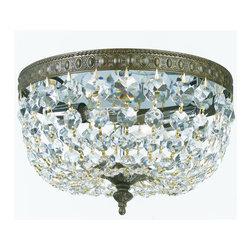 Crystorama Lighting Group - Crystorama Lighting Group 710-CL Richmond 2 Light Majestic Wood Polished Crystal - Two Light Majestic Wood Polished Crystal Basket