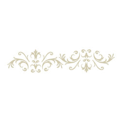 """Stencil Ease - Victorian Baroque Stencils - Victorian Baroque Stencils You can use this Victorian Baroque Decorating Stencils Kit to create your own patterns all over your wall or Floor. Quickly and easily create a Victorian ambience in your home! This detailed elegant laser-cut stencil is a decorators delight for creating intricate patterns on walls and floors. The laser cutting produces crisp clean smooth edges allowing this stencil to deliver professional-grade results. Whether you are using a high-density foam roller and latex paints or your choice of sponges brushes and rags this stencil design is guaranteed to please the eye when finished. We suggest you visit you your local paint store for color ideas using contrasting background/stencil colors or even trying a satin or semi-gloss urethane (over a previously painted/stained surface) for a very subtle effect. Our new low-tack adhesive backed material is perfect for floor stenciling. This film works well on walls as well however we recommend testing a small section of the wall to ensure the paint is well cured and the low-tack adhesive will not remove any paint. You can also stick the adhesive backed material to a piece of fabric or sheet of cardboard several times to remove some of the tack level before using on a painted wall. 5 piece Victorian Baroque Designer Complete Kit Contains: 1 - SWP0116 Victorian Baroque Wall and Floor Stencil - 19.5"""" x 19.5"""" stencil sheet 1 - SAC0116 Victorian Baroque Accent Corner Stencil - 10"""" x 10"""" stencil sheet 1 - SAS0116 Victorian Baroque Accent Spot Motif Stencil - 10"""" x 10"""" stencil sheet 1 - SHV0116 Victorian Baroque Accent Border Stencil - 6"""" x 18"""" stencil sheet 1 - T7602 2 inch HIGH-DENSITY Foam Roller with 8"""" handle"""