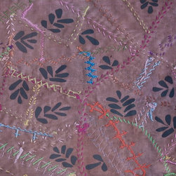 Domestic Construction - Patchwork Garden Floor Mat, Large - This eye-catching design will make guests do a double take, thanks to a digital dye process that takes handstitched artwork and imposes the design on a durable mat. You'll sing the praises of the skid-resistant backing too, which ensures there will be no slipping and sliding.