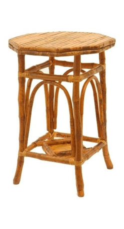 Rattan Octagon Side Table - A wonderful little side table, this rattan piece adds so much character to a room.