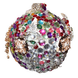 Stark Interiors - Vintage Jewel Hand-Made Ornaments Bouquets Trees, Ornaments Round - made by hand vintage holiday ornaments trees and/or bouquets. Made from REAL vintage Jewels not reproductions like seen in mass produced, no two pieces are alike!  These are beautiful and heavy hand made for holiday, weddings or everyday use.  Each sold individually or buy bundle for cut rate price! Great for center pieces for weddings. After wedding one will have a beautiful collection of christmas or holiday ornaments for the rest of their lives!! Great gift- must see!