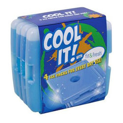 Fit & Fresh - Fit and Fresh Kids Cool Coolers , 4 pack - using an ice pack when you're out and about helps to make sure that your foods stay fresh and safe to eat. Unfortunately, many of the ice packs on the market just aren't safe in their own right.